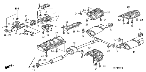 Acura Exhaust System Diagram DIY Enthusiasts Wiring Diagrams - 2003 acura tl type s parts