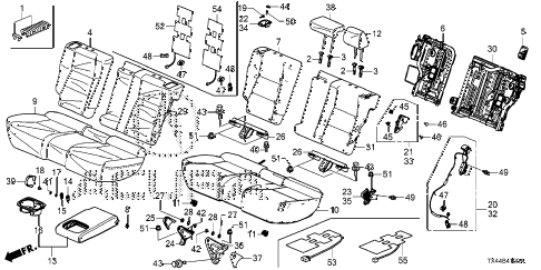 Acura online store : 2015 rdx rear seat parts