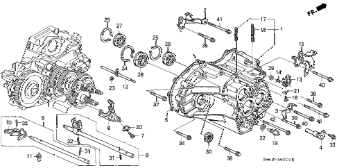 SM43A0200C honda online store 1992 accord at transmission housing parts