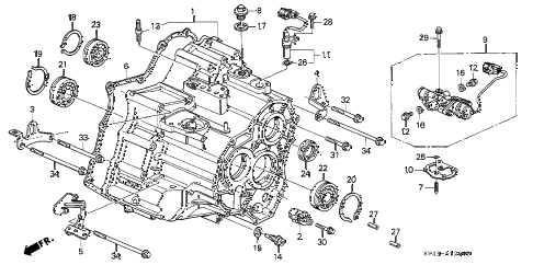 honda online store 1997 accord at transmission housing (v6) parts honda accord transmission problems 1997 accord v6 lx(abs v 6) 4 door 4at at transmission