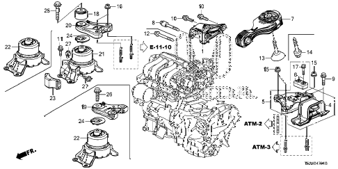 honda online store 2015 fit engine mount at parts rh estore honda com 2009 honda fit engine diagram 2008 honda fit engine diagram