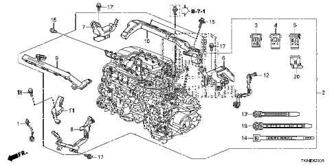 honda online store 2013 odyssey engine wire harness 5at parts 2013 odyssey exl leather 5 door 5at engine wire harness 5at diagram