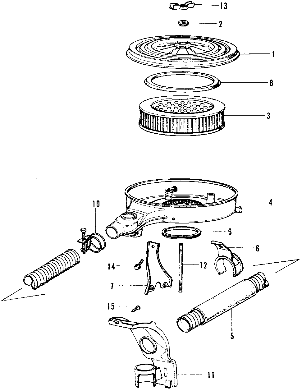 17305-634-000 - CLIP, HOT AIR DUCT