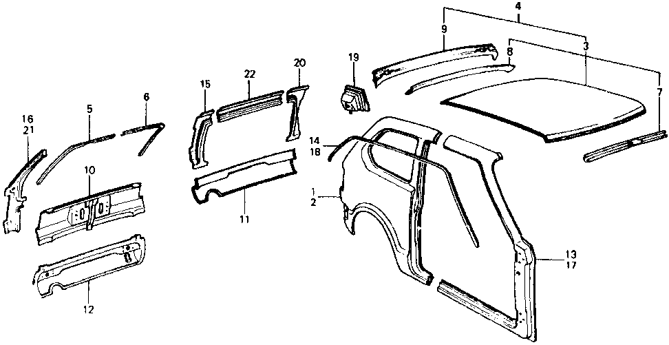 04712-658-674ZZ - PANEL, L. RR. SIDE (OUTER)
