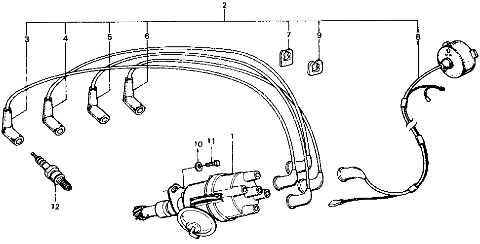 32712-657-300 - WIRE, IGNITION (NO.2)