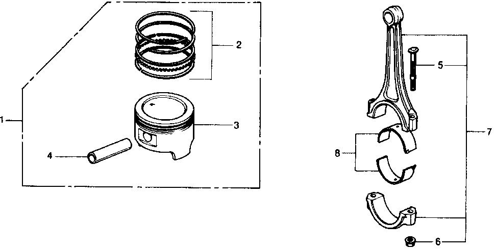 13215-PC1-004 - BEARING E, CONNECTING ROD (YELLOW)