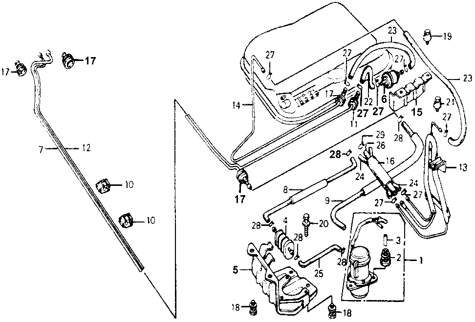 17728-671-671 - BRACKET, VALVE (TWO-WAY)