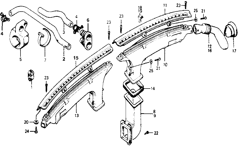 39224-671-000 - CLAMP, WATER INLET HOSE