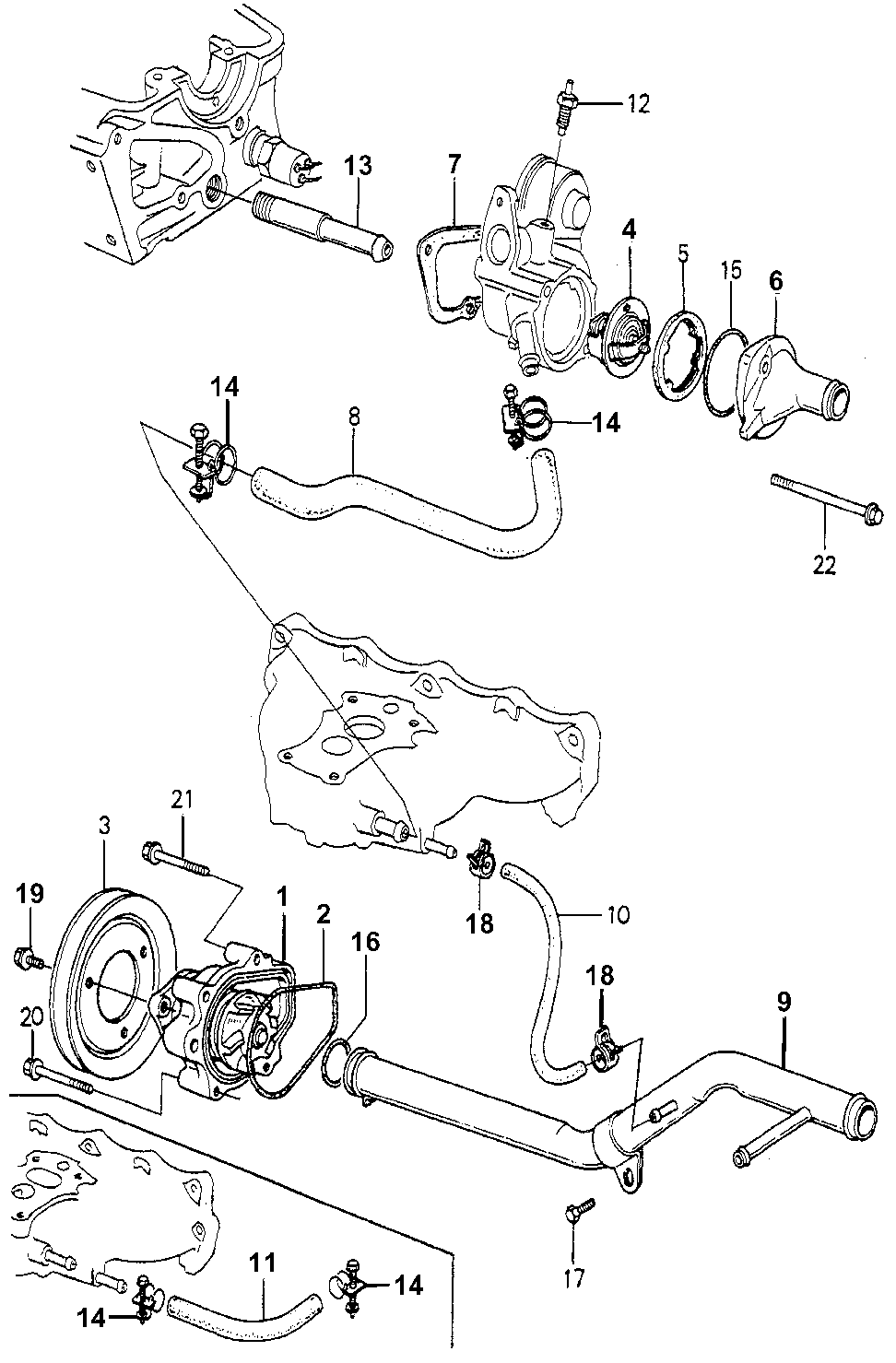 19224-PA6-020 - PULLEY, WATER PUMP