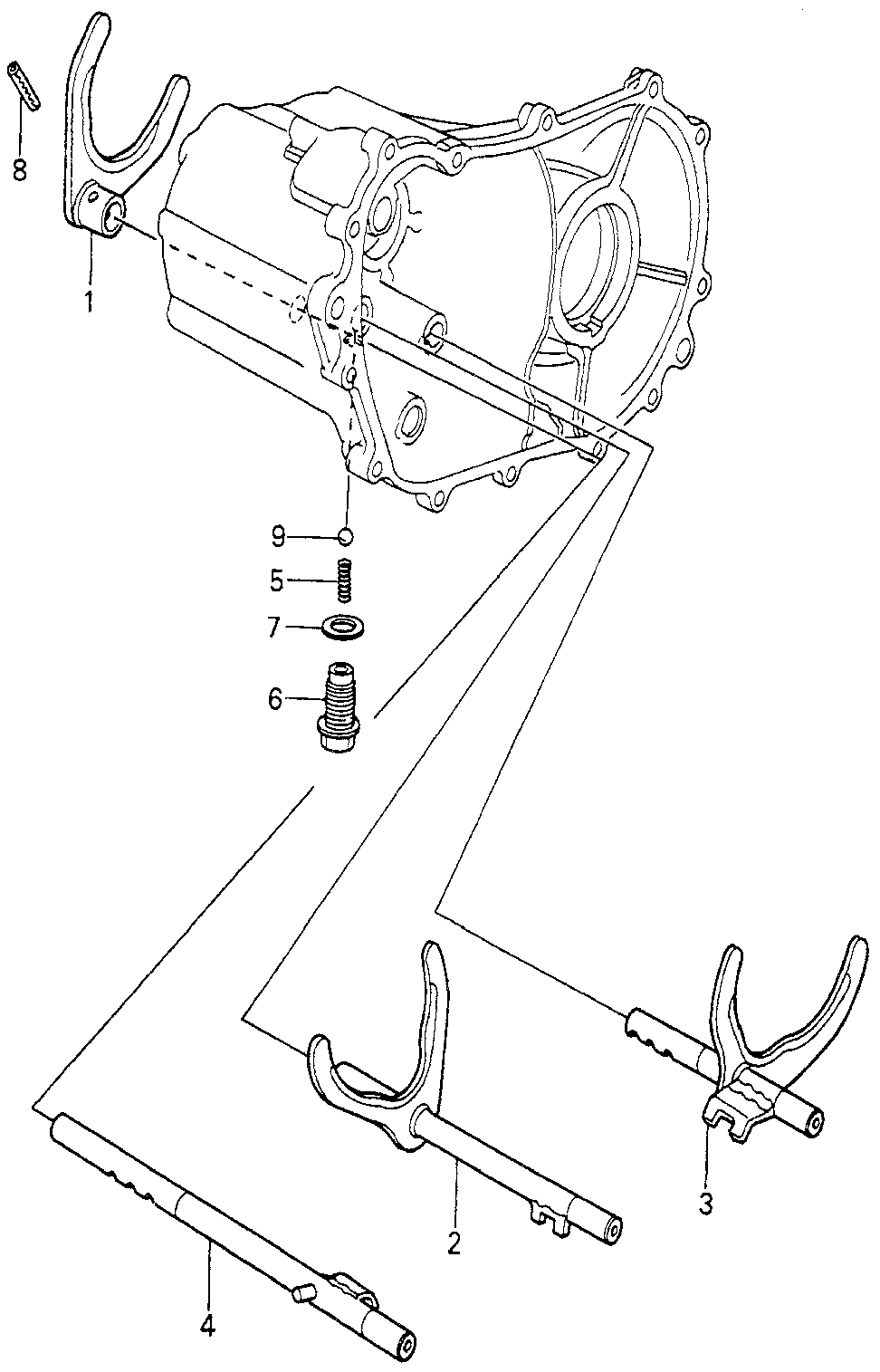 24211-689-000 - FORK, FOURTH GEARSHIFT