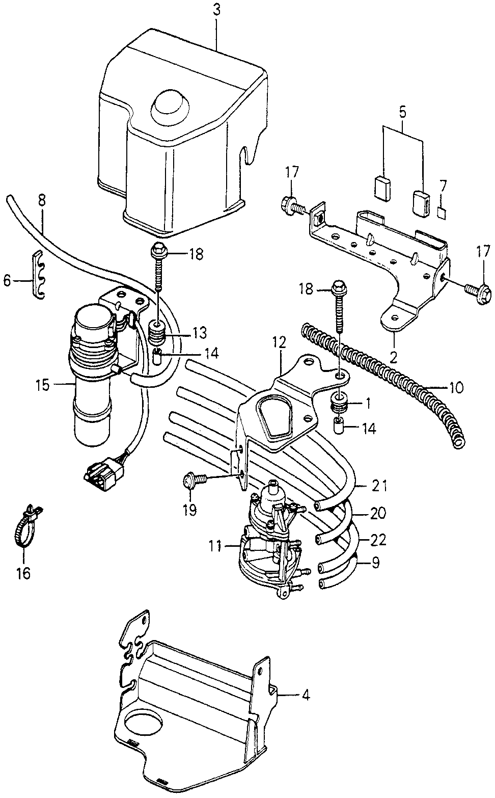 18724-PA6-680 - RUBBER, CONTROL BOX MOUNTING