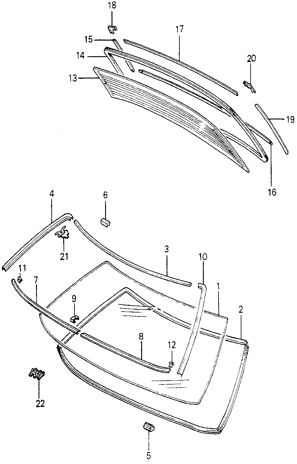 67806-692-000 - SPACER, WINDSHIELD (LOWER)