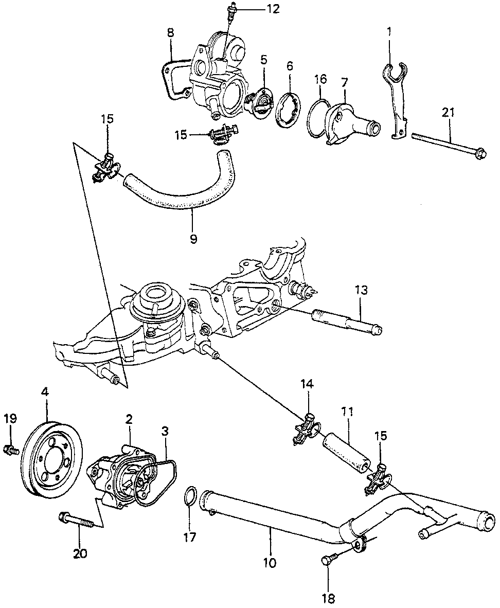 19505-PB3-000 - PIPE, CONNECTING