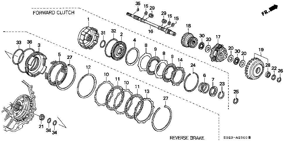 22573-P4V-003 - PLATE, CLUTCH END (27) (4.7MM)