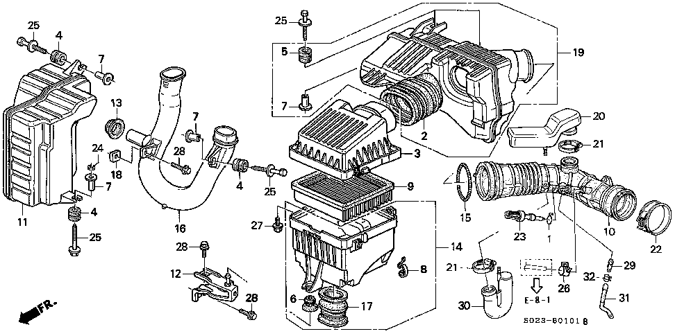 17212-P2J-J00 - RUBBER, AIR CLEANER MOUNTING
