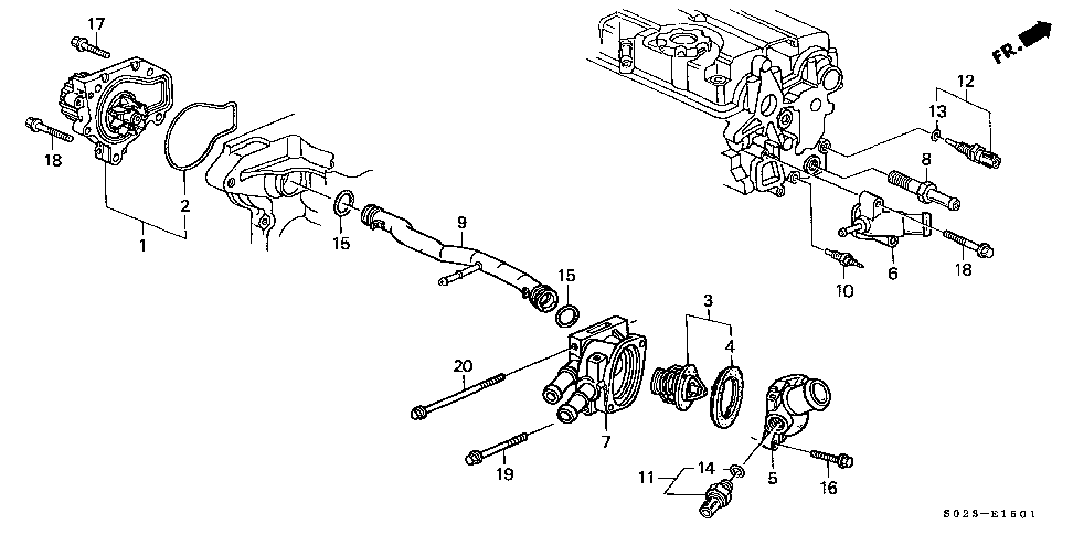 19505-P30-000 - PIPE, CONNECTING