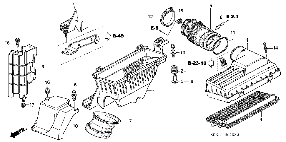 91405-PM5-004 - CLAMP, TUBE (D17)