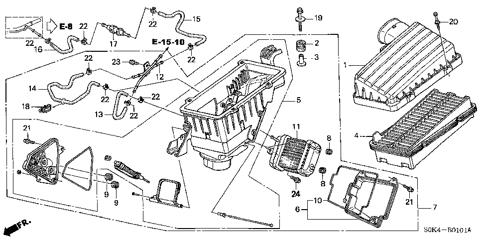 19656-P8E-A00 - HOSE A, IN. HEATER OUTLET