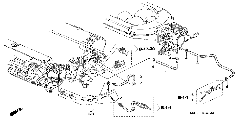 19653-P8E-A00 - HOSE A, IN. HEATER INLET
