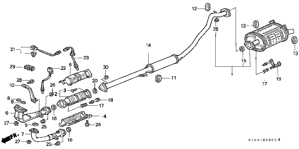 18210-S10-A02 - PIPE A, EX.