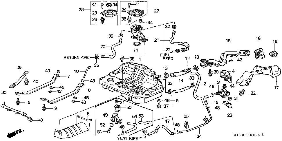 17660-S10-A03 - PIPE, FUEL FILLER