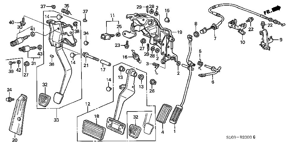 17931-S10-A00 - CLAMP, THROTTLE WIRE