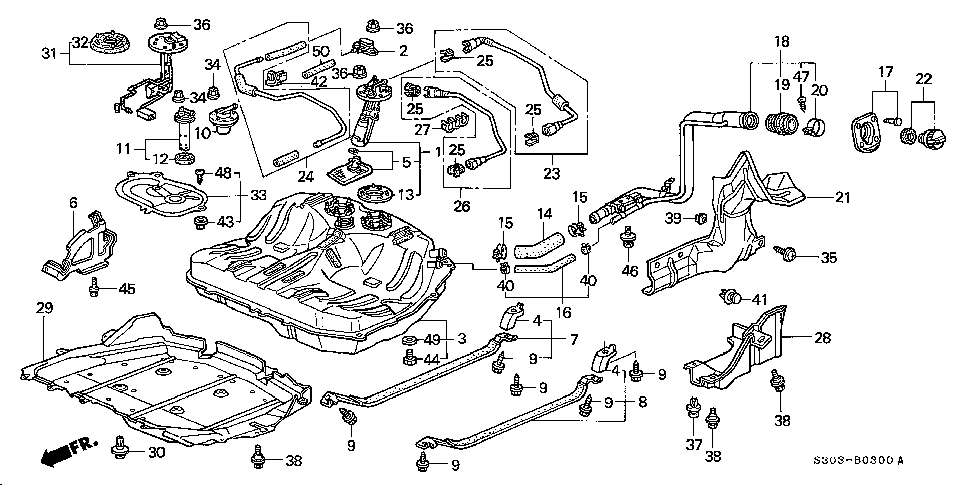 17570-SL0-013 - VALVE, FUEL CUT