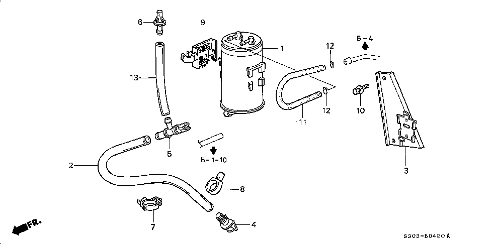 17357-S30-A31 - TUBE, DRAIN (CANISTER)