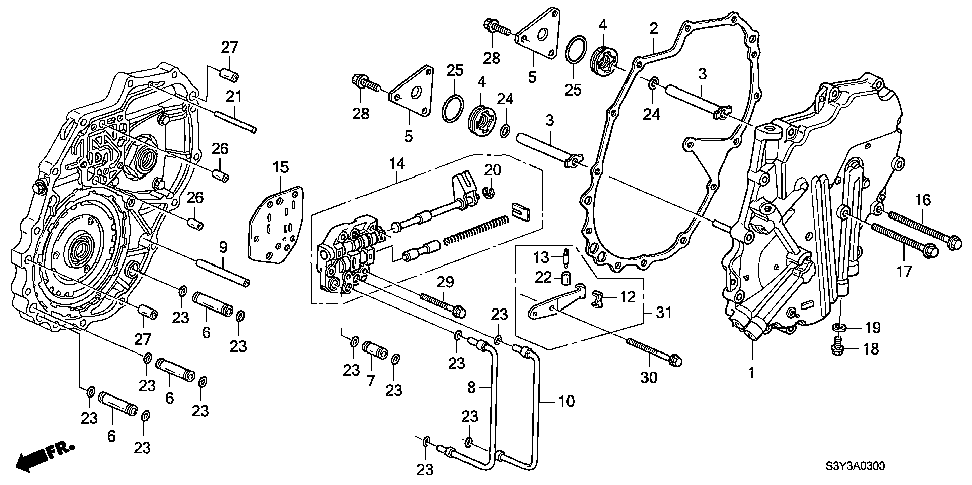 22771-PHT-000 - PIPE A, MANUAL VALVE BODY