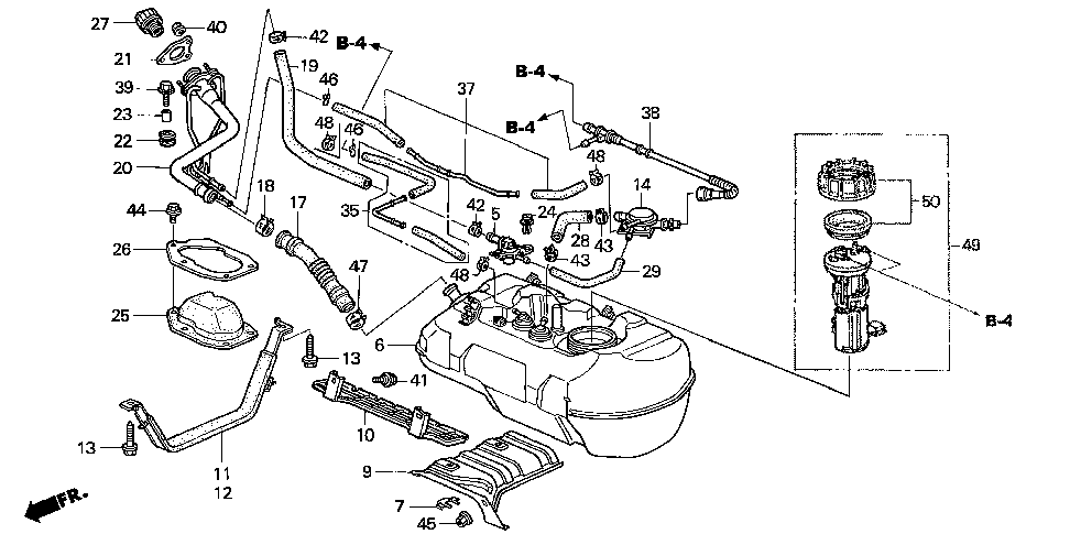 17521-S3Y-000 - BAND, R. FUEL TANK MOUNTING