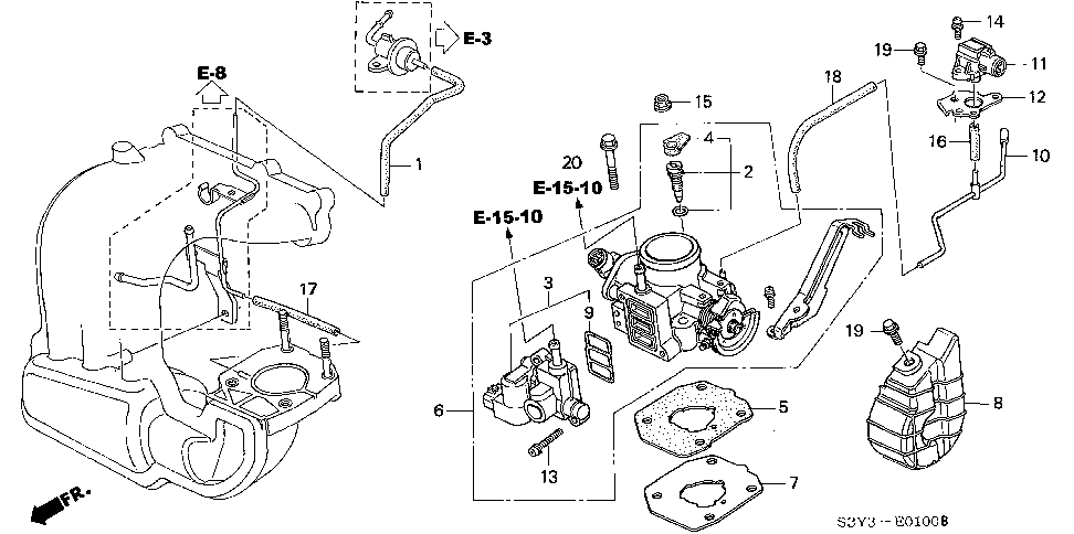 16456-P8A-A01 - GASKET, ROTARY AIR CONTROL VALVE