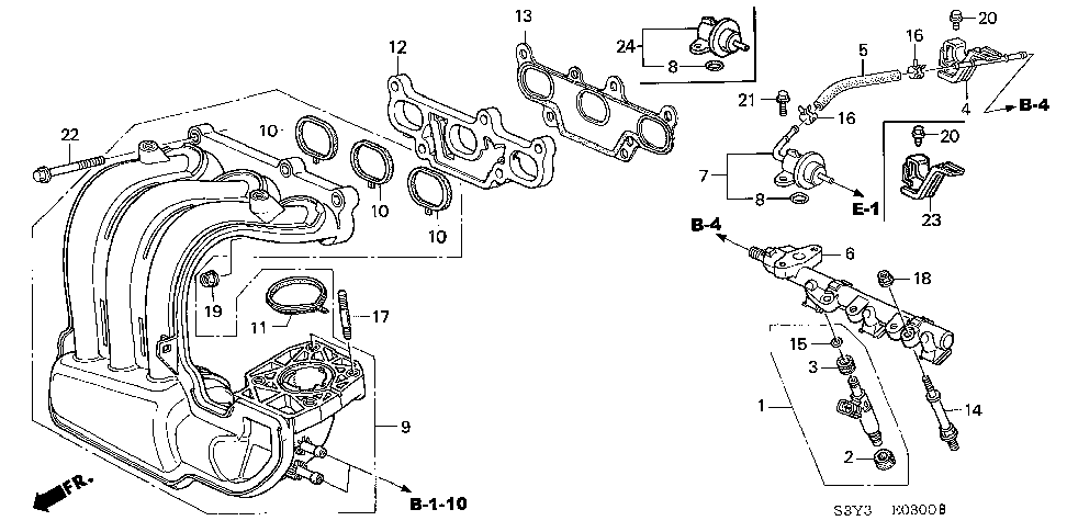 17106-PHM-006 - GASKET, IN. MANIFOLD