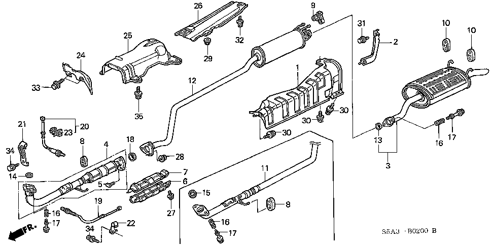 18215-S5A-A11 - RUBBER, EX. MOUNTING