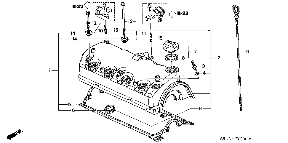 90442-PLC-000 - WASHER, HEAD COVER