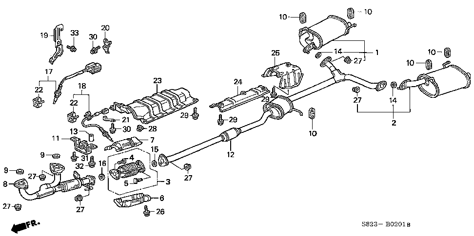 18210-S87-A03 - PIPE A, EX.