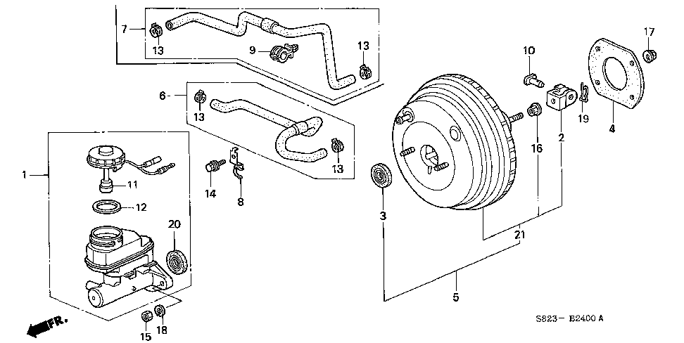46100-S84-A53 - MASTER CYLINDER