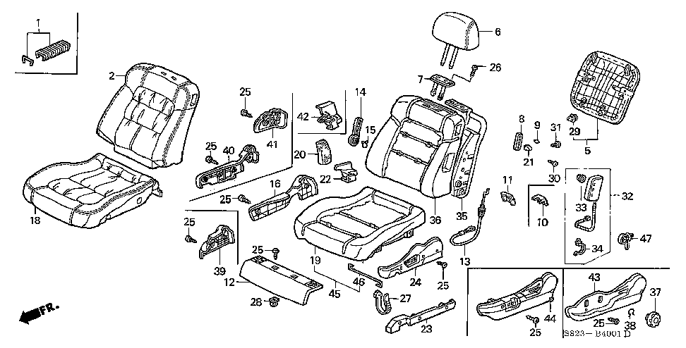 06788-S84-A60 - MODULE KIT, L. SIDE AIRBAG