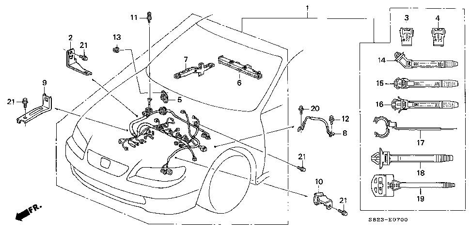 32110-PAA-A60 - WIRE HARNESS, ENGINE