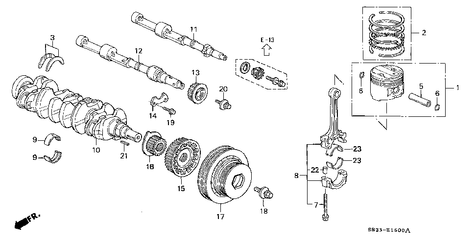 13026-PAA-S10 - BEARING E SET, CONNECTING ROD (YELLOW)