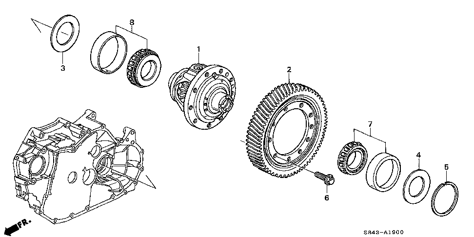 41100-P7X-A00 - DIFFERENTIAL
