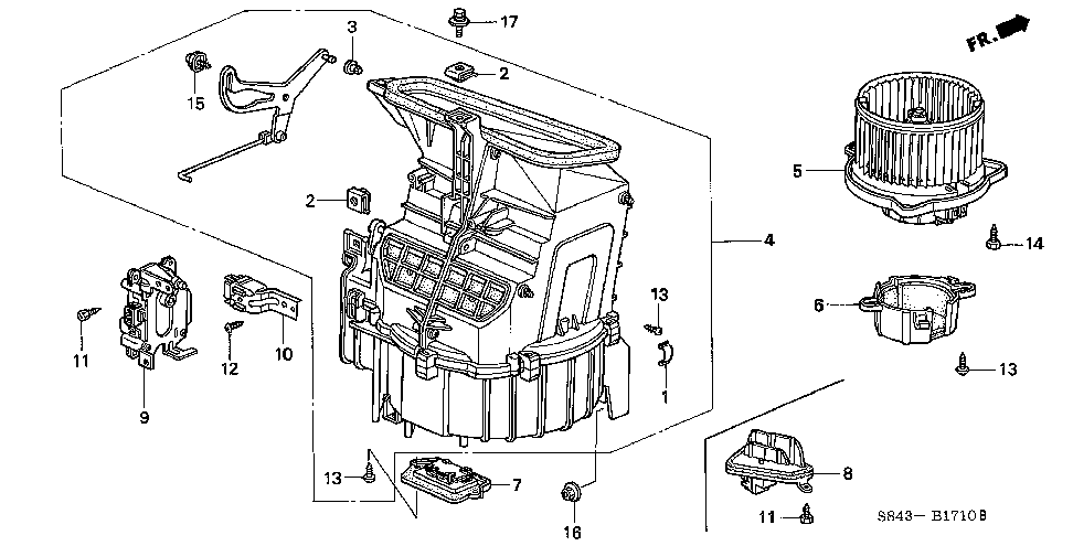 79305-S87-A01 - BLOWER SUB-ASSY.