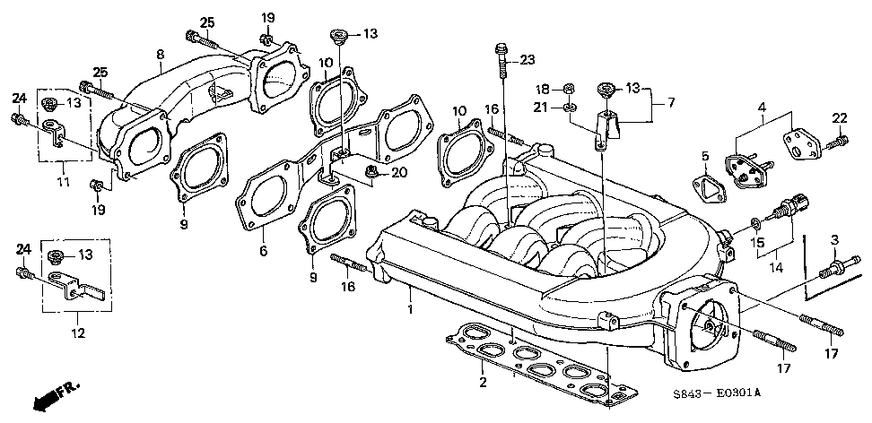 17105-P8A-A01 - GASKET, IN. MANIFOLD (NIPPON LEAKLESS)