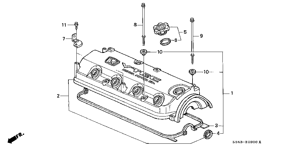 12341-P0A-000 - GASKET, CYLINDER HEAD COVER