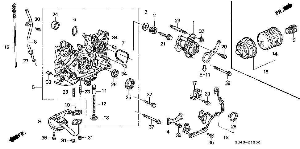 14535-P0A-A00 - PLATE, TIMING BELT STOPPER