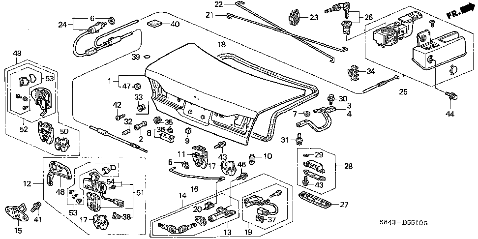 74871-S84-A00ZZ - SPRING, R. TRUNK OPENER