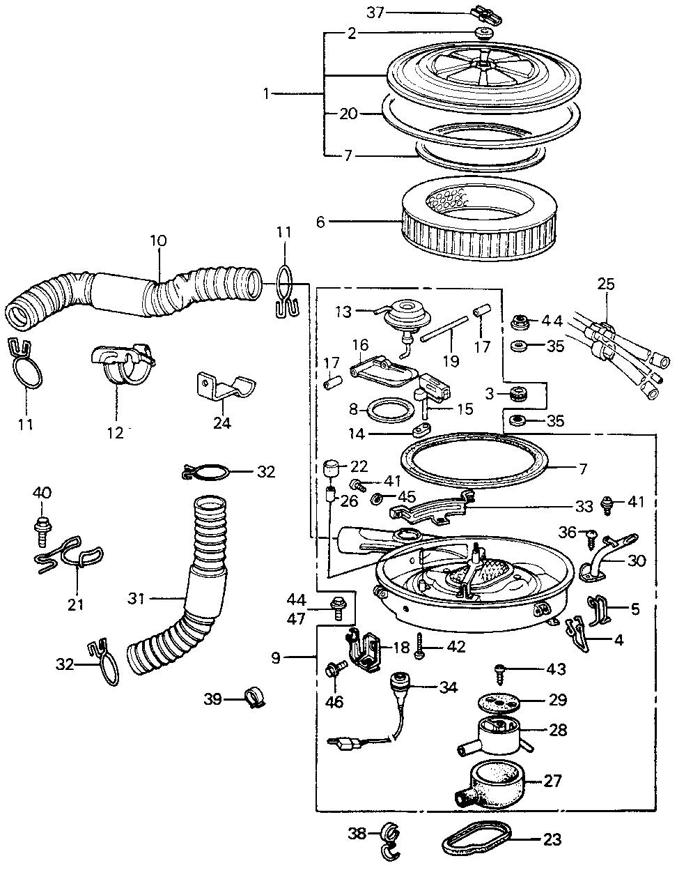 17221-PA5-700 - GASKET, ELEMENT