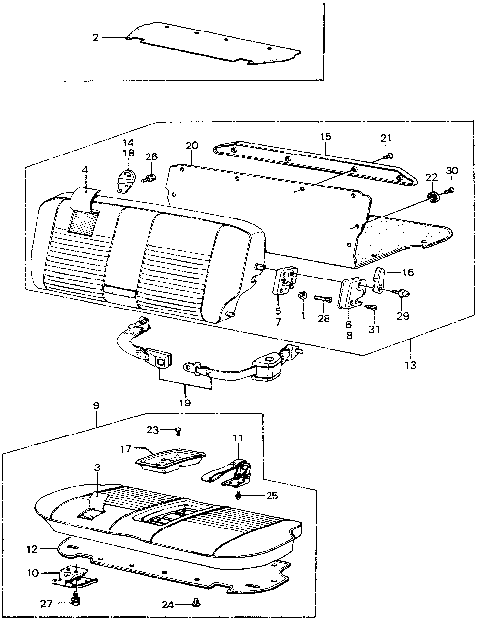 72848-SA3-830 - COVER, MIDDLE FLOOR