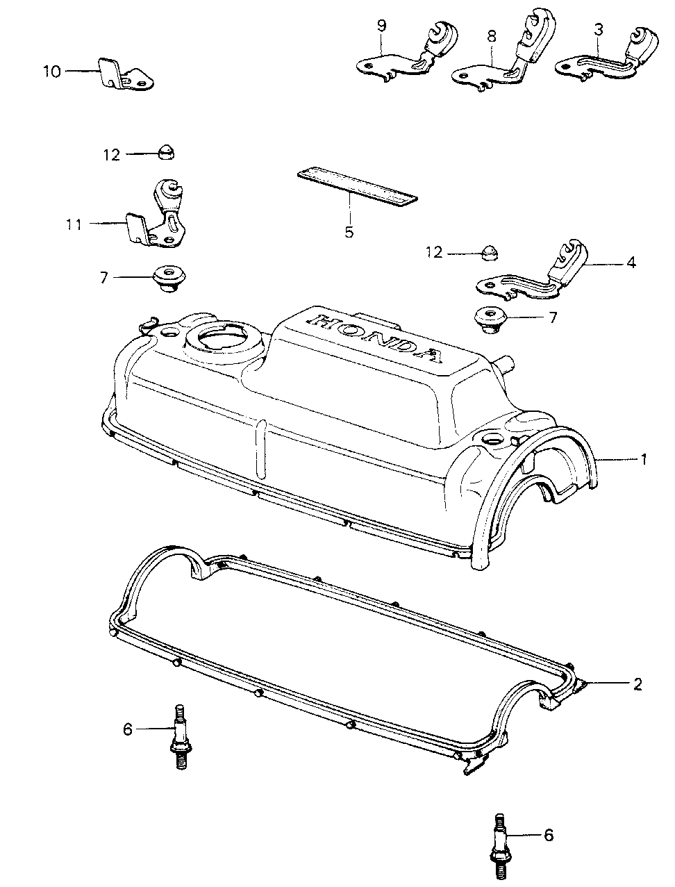 12341-PA6-000 - GASKET, HEAD COVER