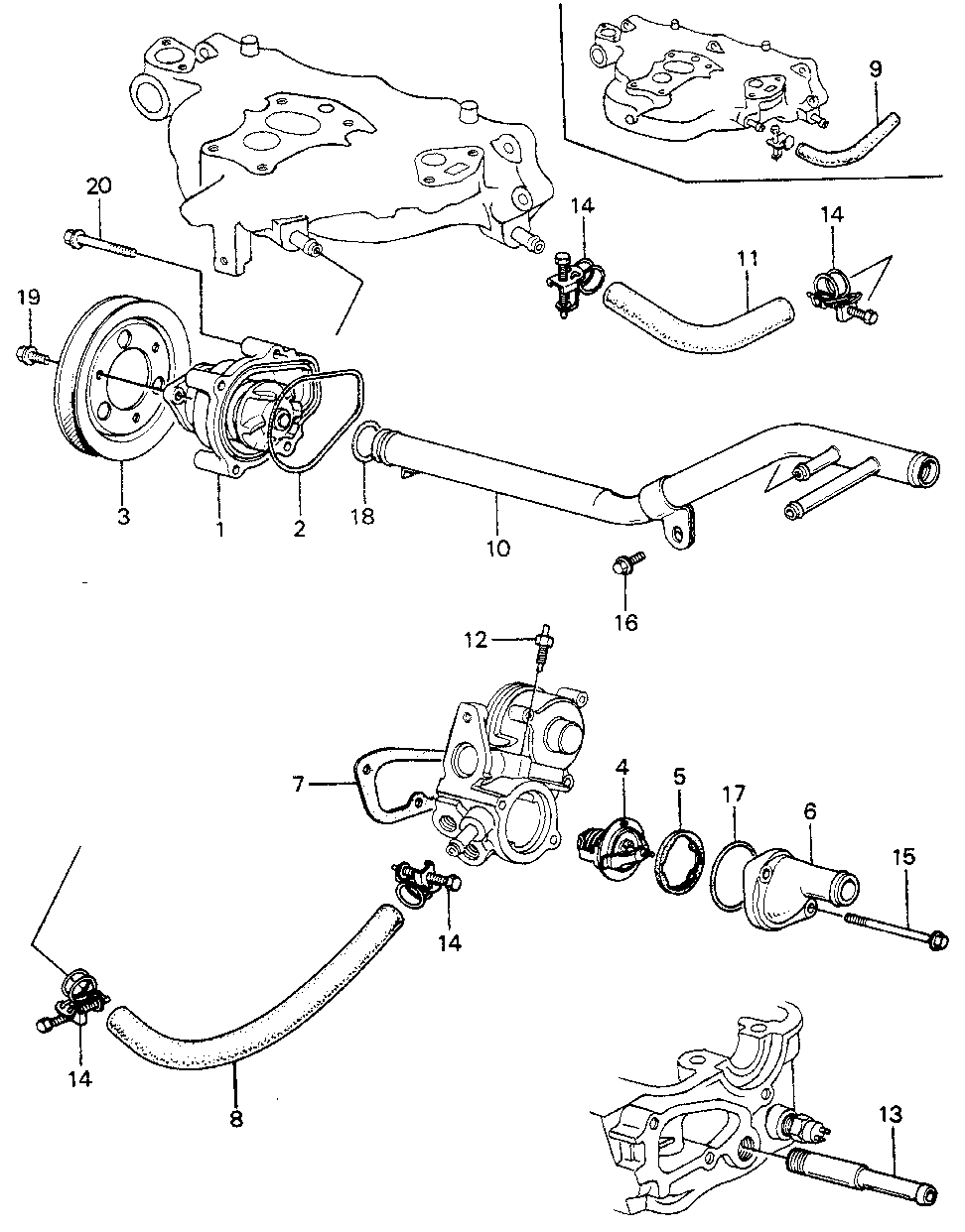 19224-PC1-000 - PULLEY, WATER PUMP