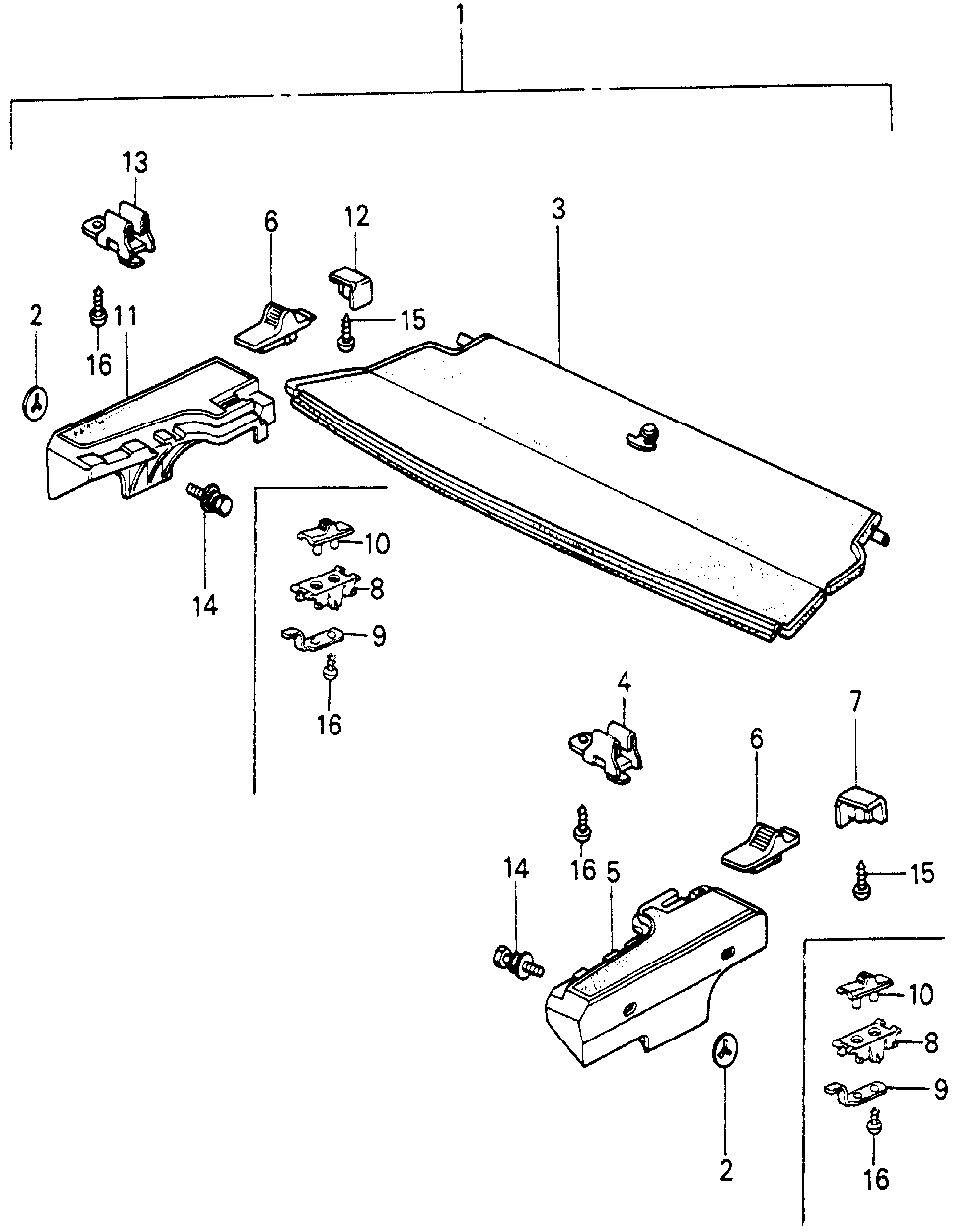06838-SA0-812ZD - SHELF KIT, RR. *R32L*(SINCERE RED)